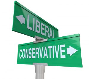 what is politics conservative or liberal