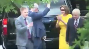 WATCH: Were Nancy Pelosi and Chuck Schumer Dancing After Goading Trump Into War With Iran
