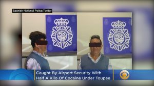 Smuggler Busted With a Pound of Cocaine Under His Toupee