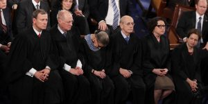 Ruth Bader Ginsburg Leans on U.S. Marshal After Leaving NYC Hospital